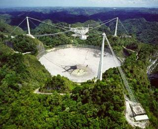 Arecibo Space Telescope in Puerto Rico